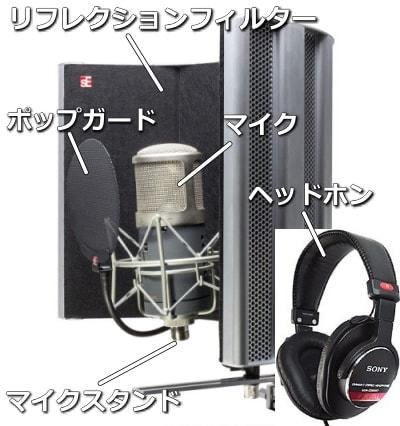 ボーカルのレコーディングに必要な機材