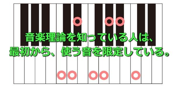 音楽理論を知っている人は最初から使う音を限定している