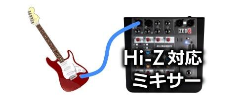 Hi-Z対応のミキサーを選ぶ