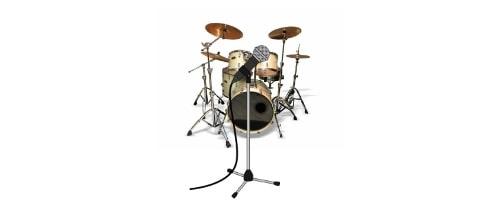 ドラムをまとめて空間録り。