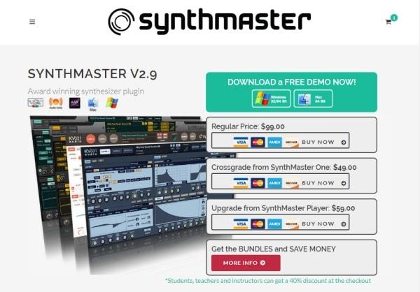 KV331 Audio Synthmaster V2.9 公式サイトから購入
