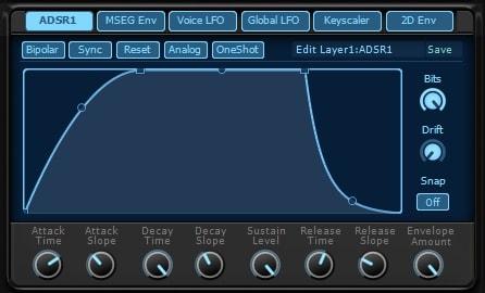 KV331 Audio Synthmaster V2.9 エンベロープ