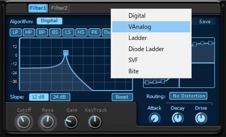 KV331 Audio Synthmaster V2.9 フィルターの使い方
