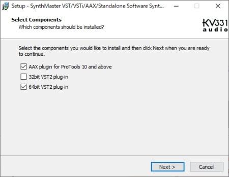 KV331 Audio Synthmaster V2.9 デモ版をインストール