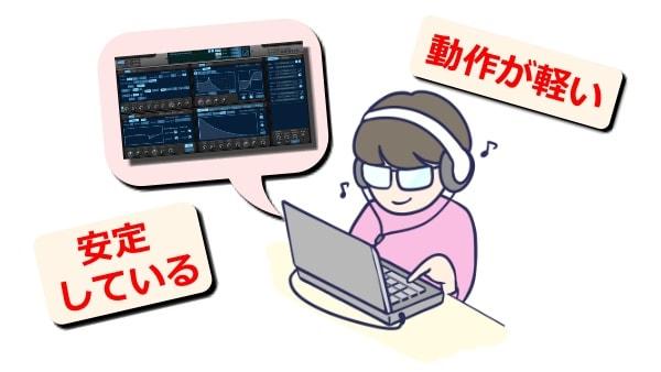 KV331 Audio Synthmaster V2.9 負荷が軽く動作が安定している