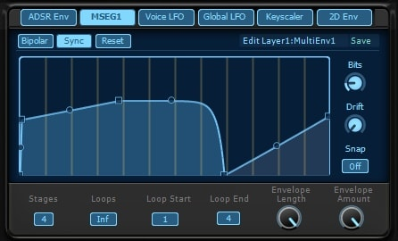 KV331 Audio Synthmaster V2.9 multistage エンベロープ