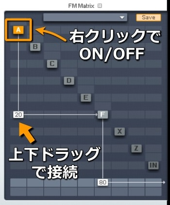 fm8 FMマトリックスの変調