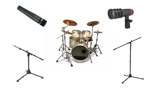 ドラムの録音に必要な機材